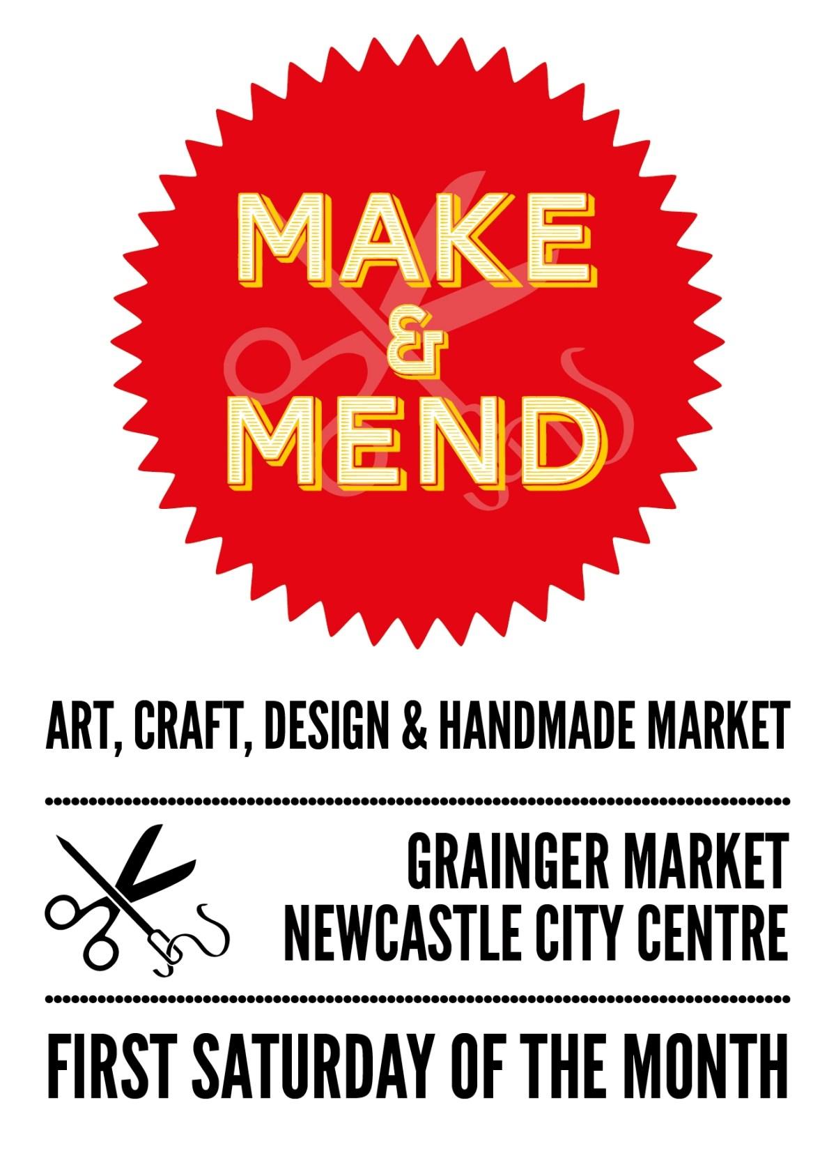 Make & Mend Market Flyer Design - 2018