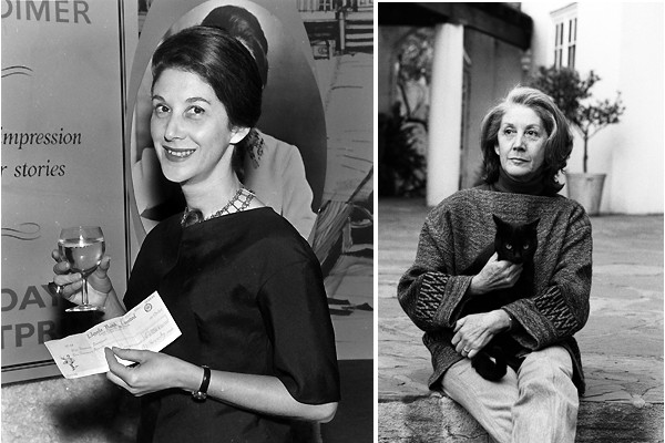 Nadine Gordimer in 1961 and 1981