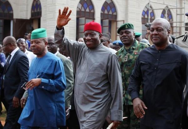 Nigeria's President Jonathan and Ghana's President Mahama
