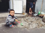 the little boy who lives in the little corner shop