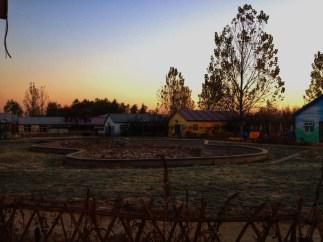 Sunrise over the village