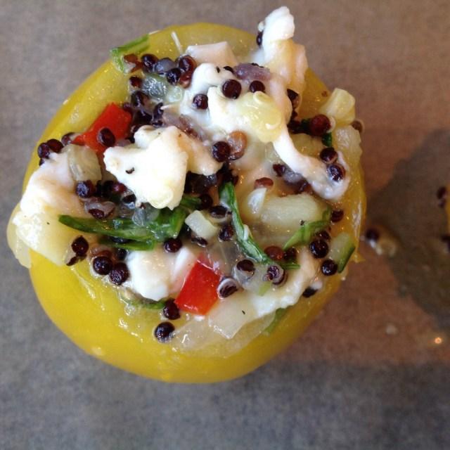 Bagte tomater med quinoa