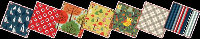 Patch-row-fabrics