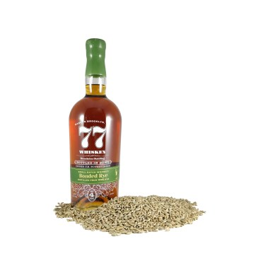 77 Whiskey Bonded Rye with grain
