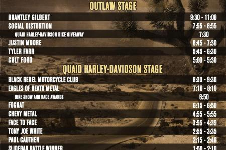 Lost Highway festival stage time