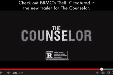 BRMC featured in trailers for The Counselor...