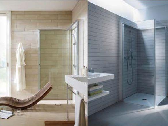 Duravit fold-away shower