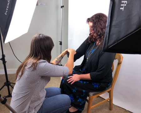 Danielle Paul prepping subject