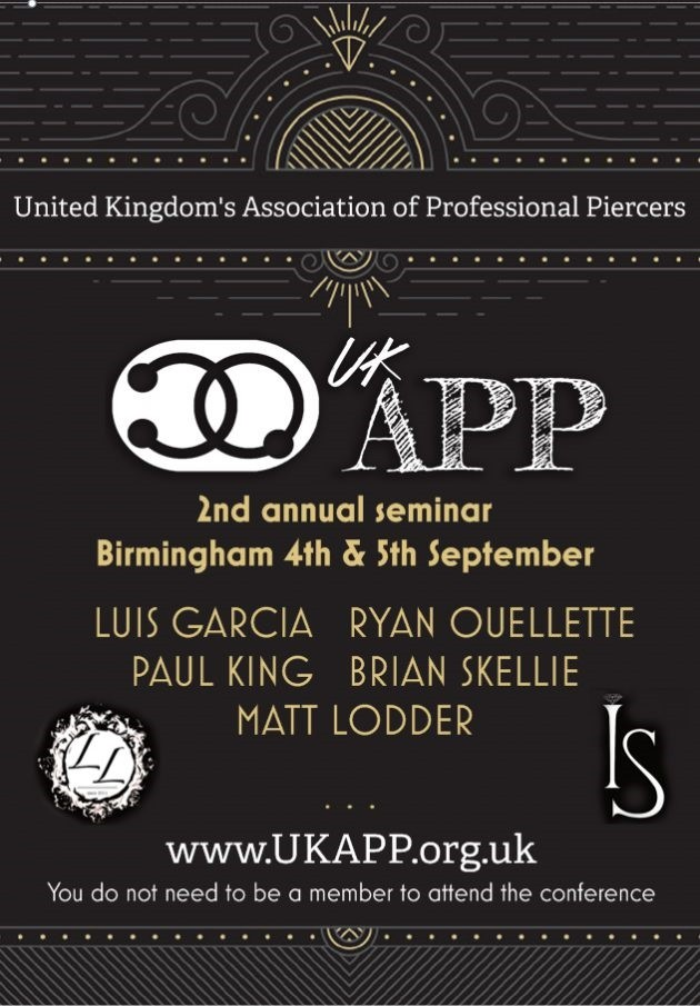 Come to the 2nd annual UKAPP seminars. Sunday 4th & Monday 5th at the Radisson Blu hotel in Birmingham England