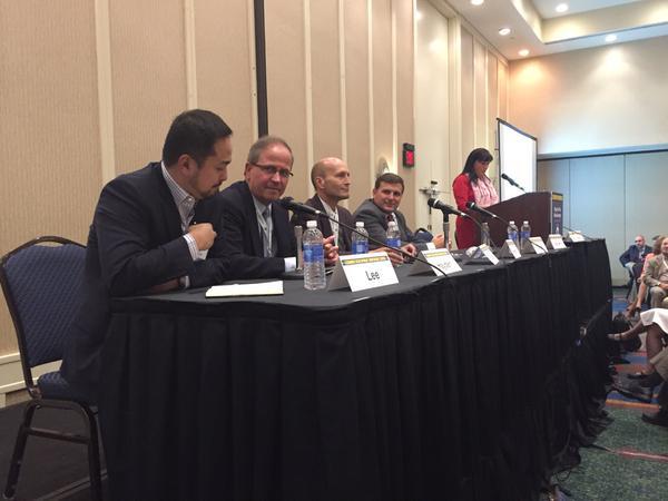 Panelists Mike Lee, Mike Hayden, Steve Rucker and Nick Hann