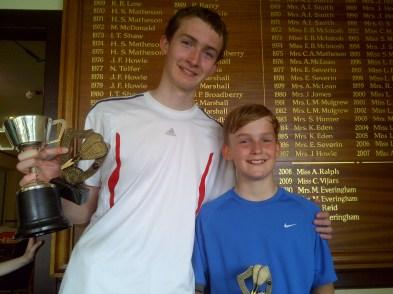 Junior Champs - winners David & Steve