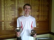 Junior Champs - winner David Bennan U18