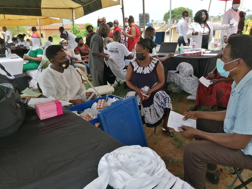 Banko community receives free health screening from US based Ghanaian medical practitioner