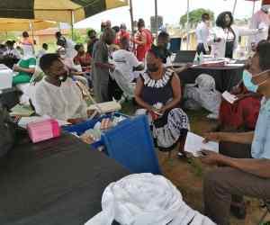 Banko community recieves free health screening from US based Ghanaian medical practitioner