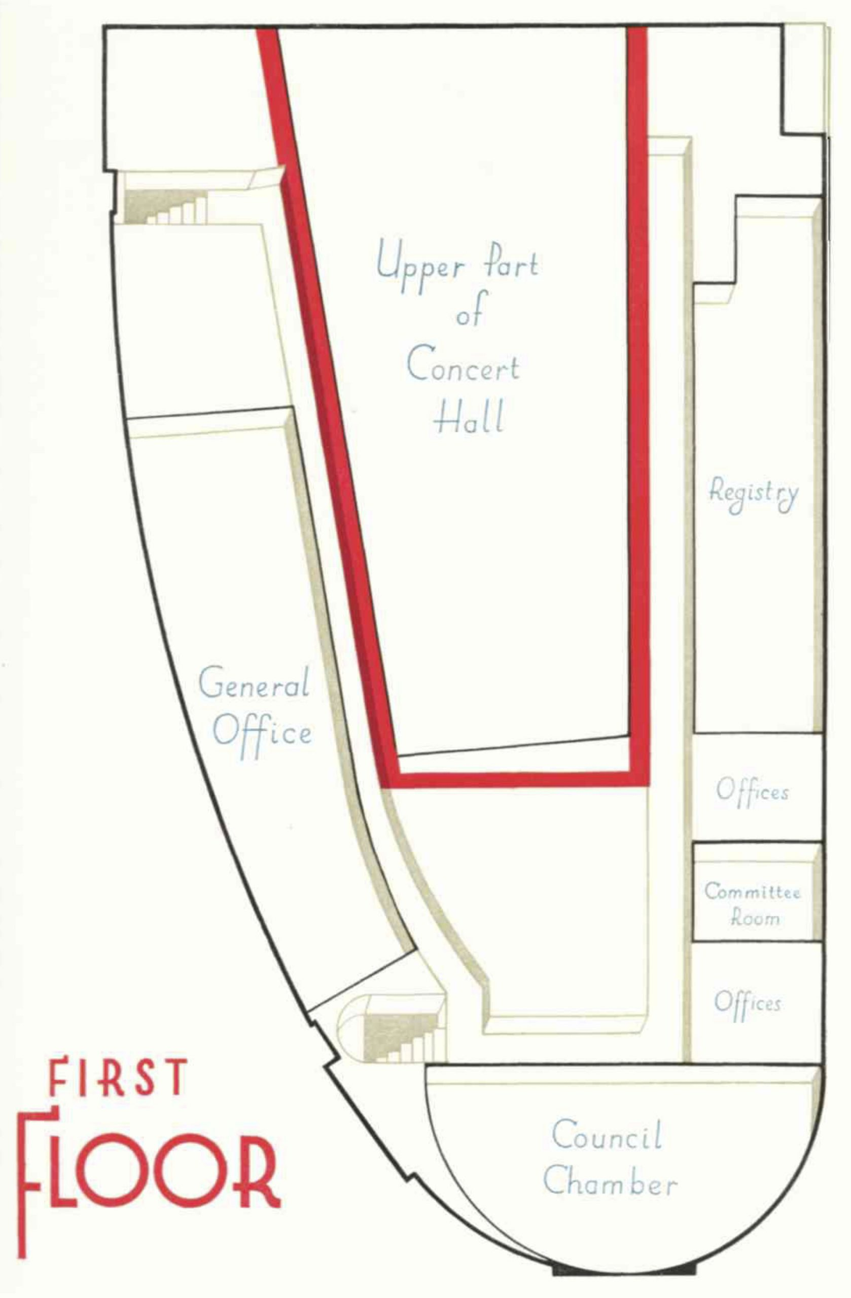 Diagram of the first floor