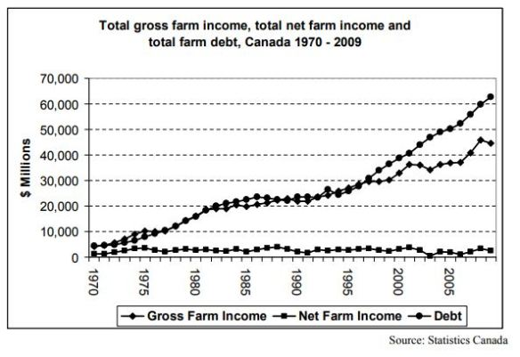 financial picture of Canadian farms