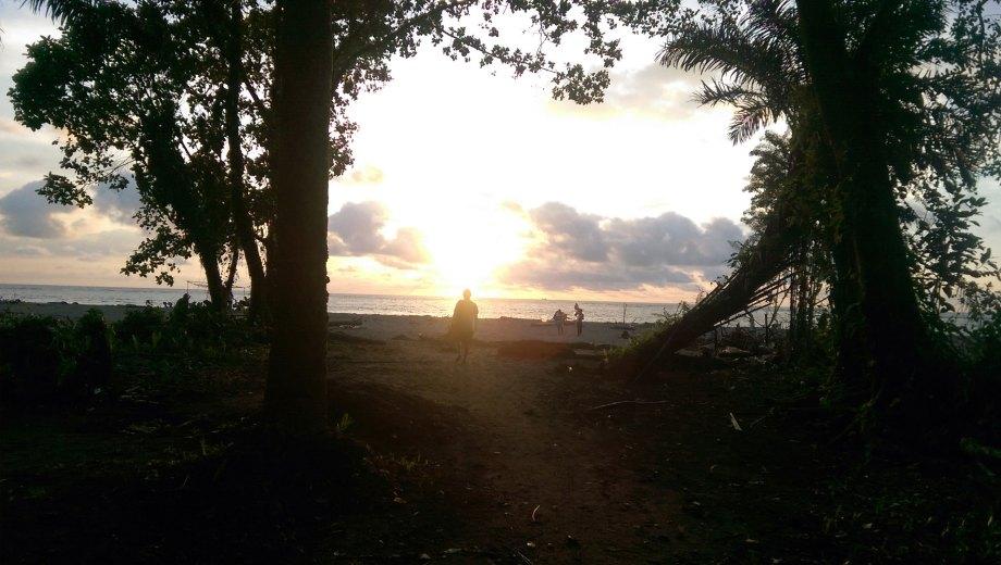 Sunset in La Barra