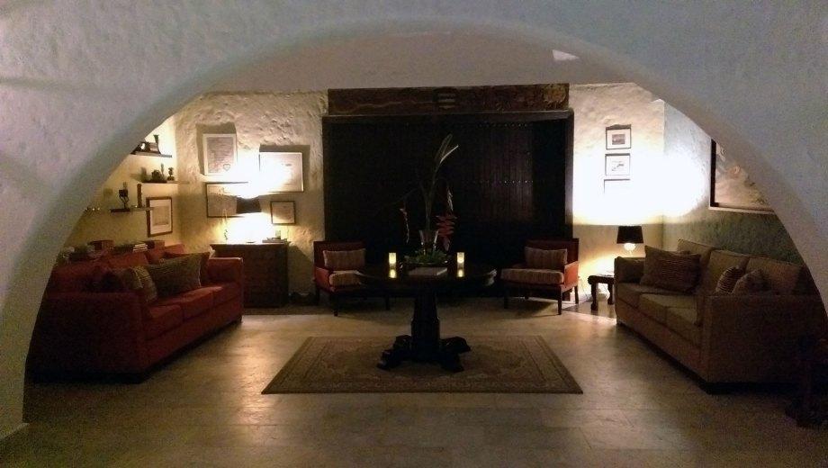 One of the Hacienda Buenavista's living rooms