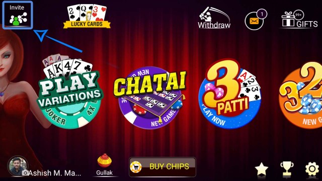 Teen Pati Hack Refer And Get Chips