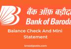 Balance Enquiry Number & Mini Statement Number