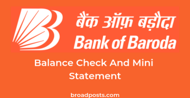 Balance Enquiry Number & Mini Statement Number