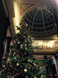 Christmas tree at the national portrait gallery