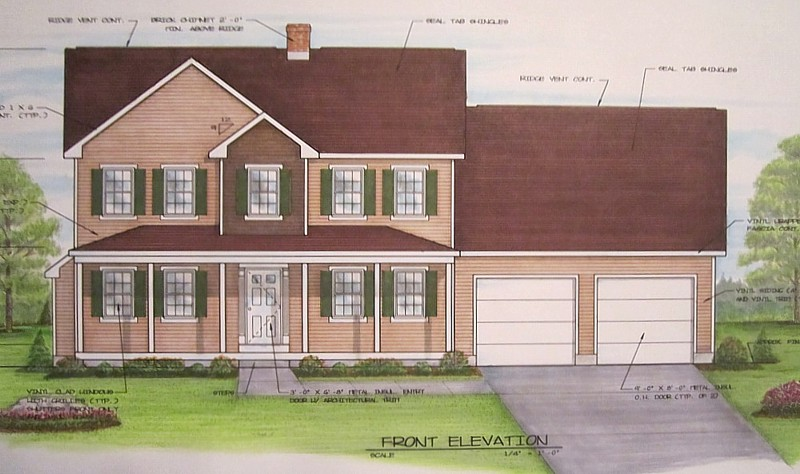 The Danbury with Porch 1800 sq.ft.