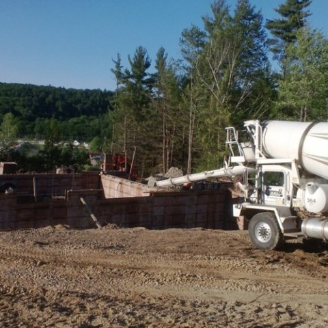 Pouring the footings of this new home.