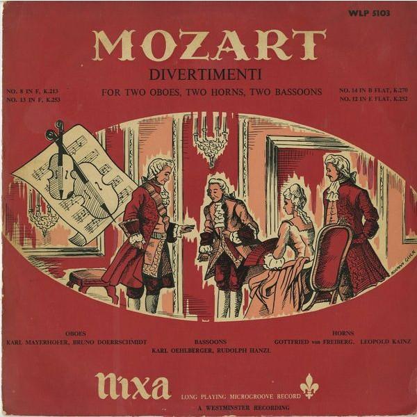 GB NIXA WLP5103 ウィーン管楽奏者 モーツァルト・ディベルティメント