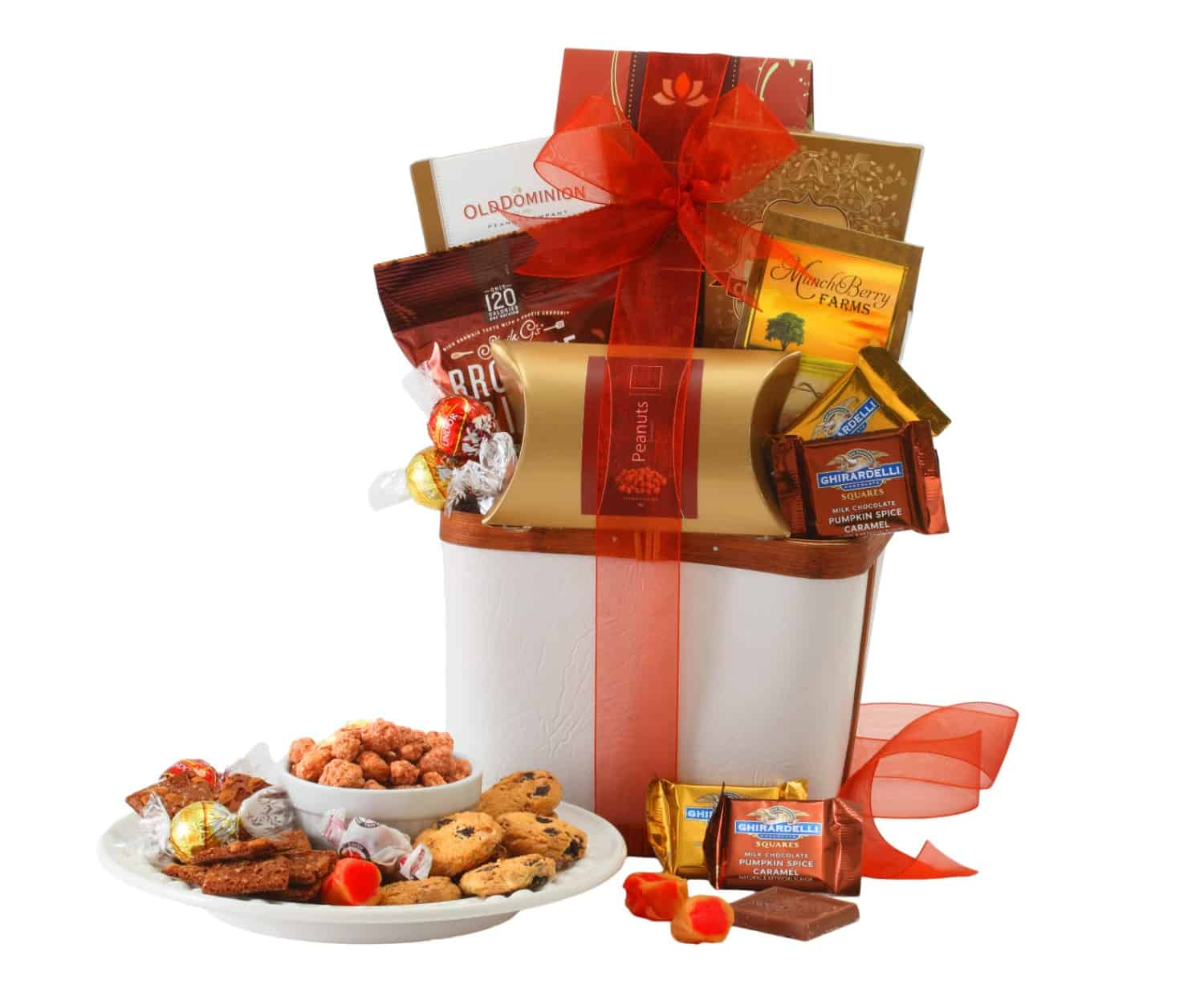 With Sympathy Chocolate Gift Basket By BroadwayBasketeers.com