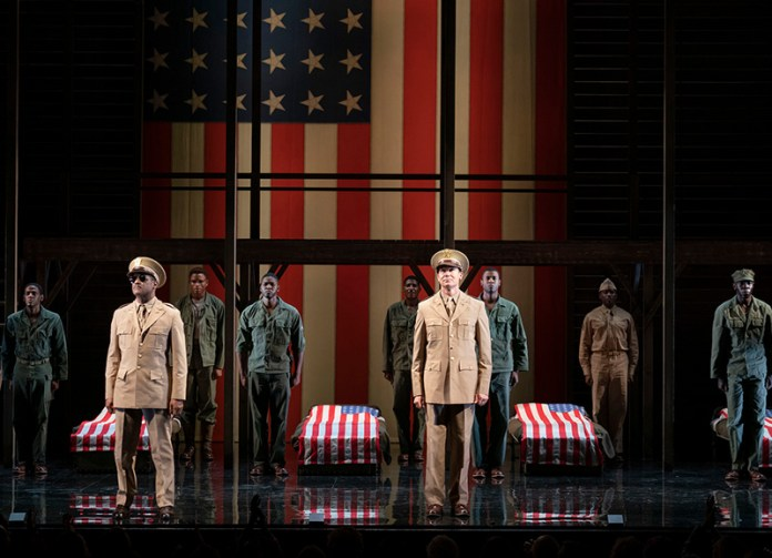 The cast of <i>A Soldier's Play</i>. Photo by Joan Marcus.