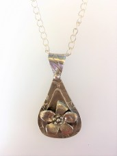 Sue Broadway - Silver Clay Drop Pendant