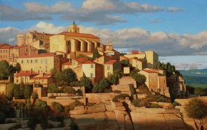 Bradley Stevens - Gordes, 32x50, Oil on Linen