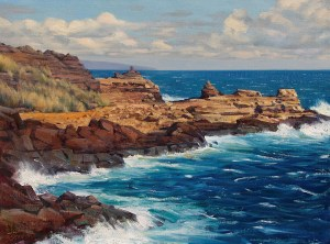 Bradley Stevens - North Shore Maui, 18x24, Oil on Linen