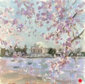 Christine Lashley CherryBlossoms CLashley 8x8 oil3