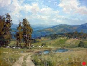 Christine Lashley East Coast View 12x16 Oil on Canvas