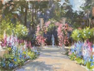 """In the Garden"" 14"" x 18"", Oil on Panel"