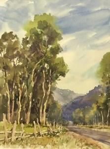 """Near Last Dollar Road"", 12"" x 9"", Watercolor on Paper"
