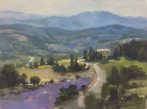 """""""Provence Layers"""", 9"""" x 12"""", Oil on Canvas"""