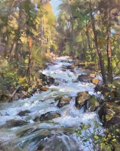 Christine Lashley Western Stream 18x14 Oil on Canvas 1