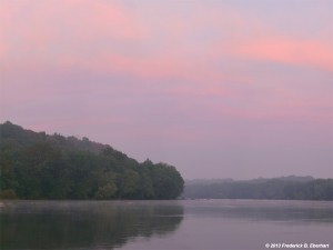Fred Eberhart, Soft Dawn, Potomac River, digital photograph
