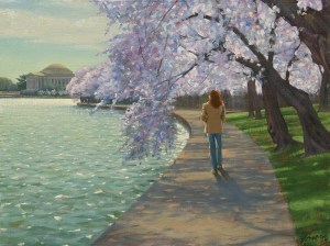 "Bradley Stevens, Blossom Path, 18"" x 24"", oil on linen"