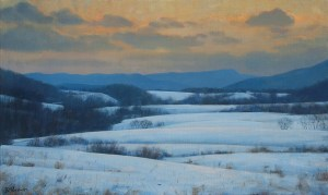 Bradley Stevens, Snow in the Peidmont, x , oil on linen