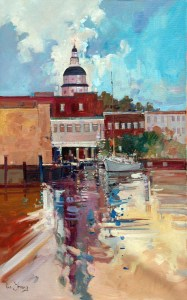 Ken Strong, Annapolis Waterfront, 20X30, Oil on canvas