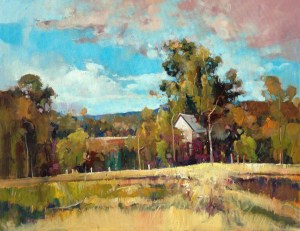 Ken Strong, Cottage at Warm Springs, 31.5X24.375, Oil on canvas