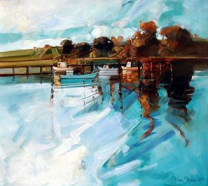 Ken Strong, Warners Bay Fisherman Newcastle NSW, Oil on canvas
