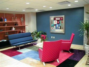 corporate lounge area by Broadway Gallery