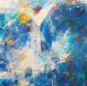 """Buck Nelligan, """"Untitled Abstract 6"""", Acrylic on Canvas, 24"""" x 24"""""""