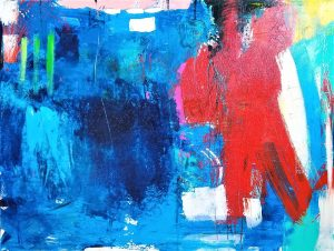 "Buck Nelligan, ""Untitled Abstract 8,"" 36"" X 48"", Acrylic on Canvas"