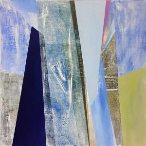 """Natalie Jackson, """"Harmony in Blue"""", 20"""" x 20"""", Acrylic on Canvas"""